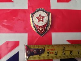 RUSSIAN BADGE SHIELD WITH RED STAR